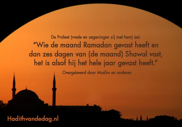 hadithkaart-vasten-shawal